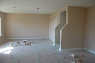 Interior painter, painted base boards and window seals,